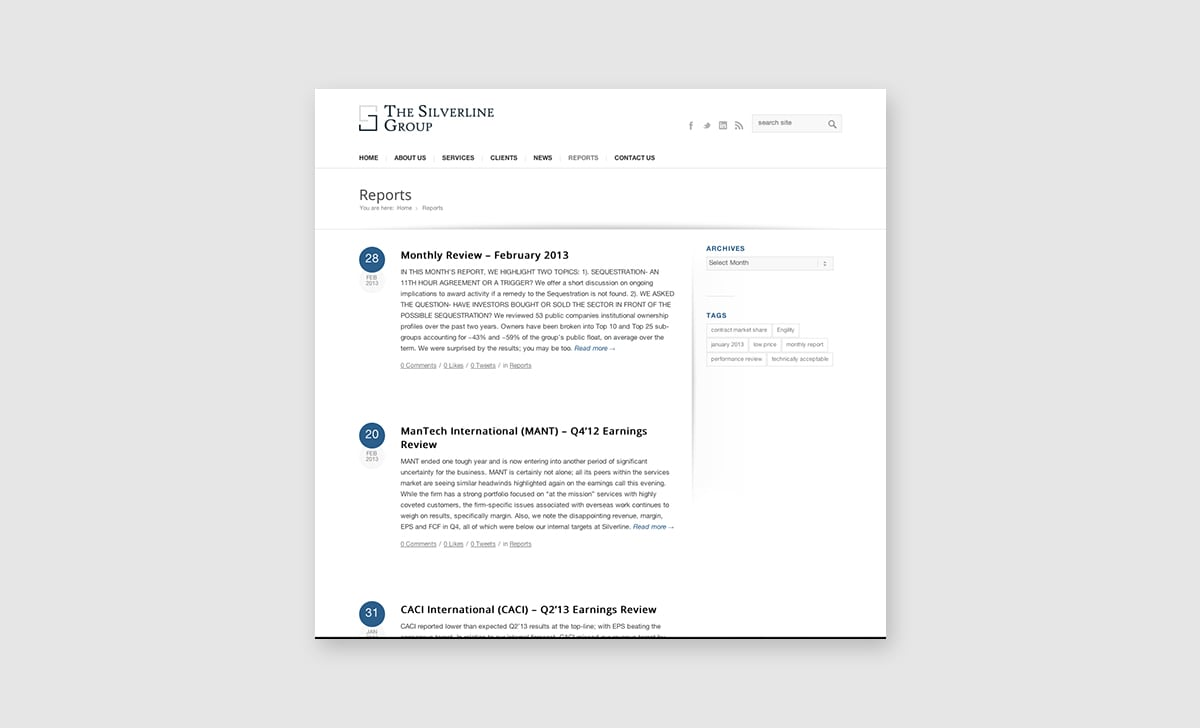 The Silverline Group Website 3