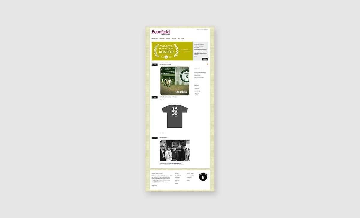 Beanfield Website Homepage