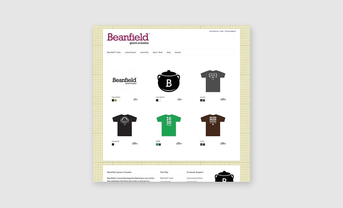 Beanfield Website 2