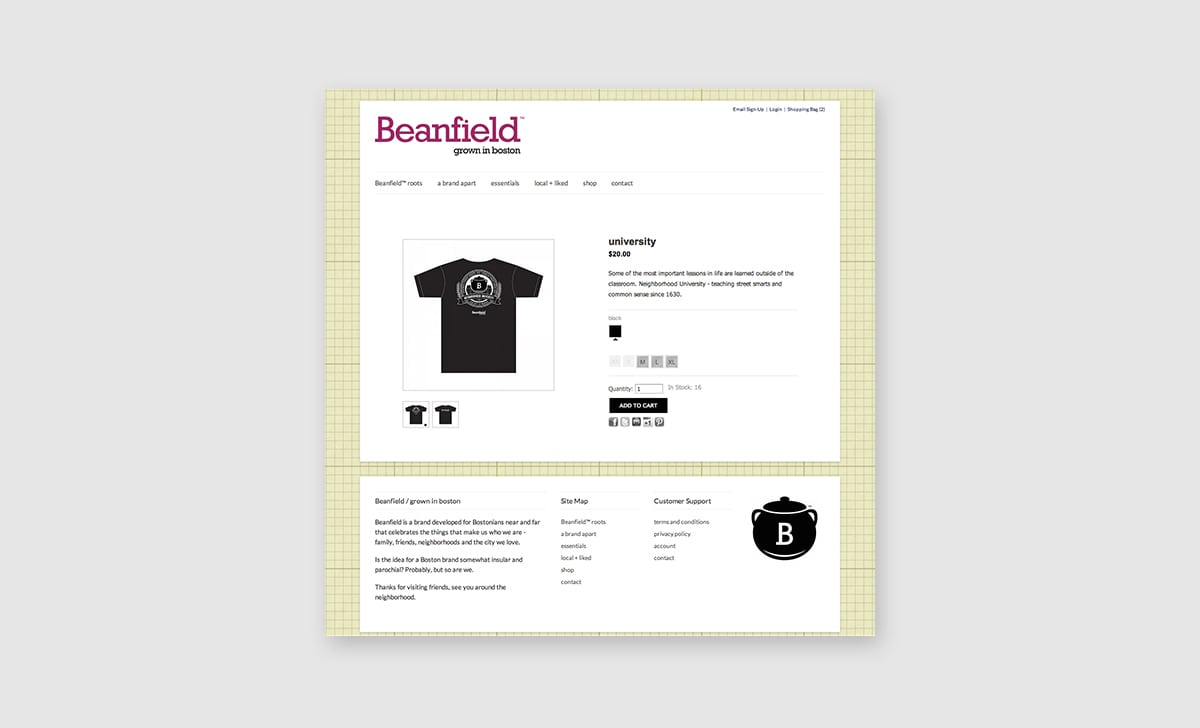 Beanfield Website 3