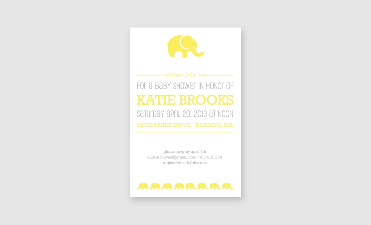 Brooks Baby Shower Invite