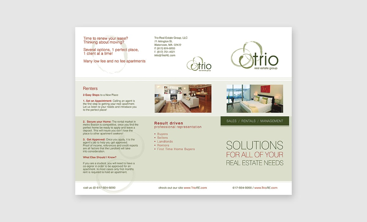 Trio Real Estate Tri Fold Front