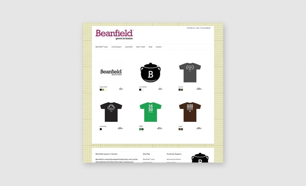 Beanfield Website 2
