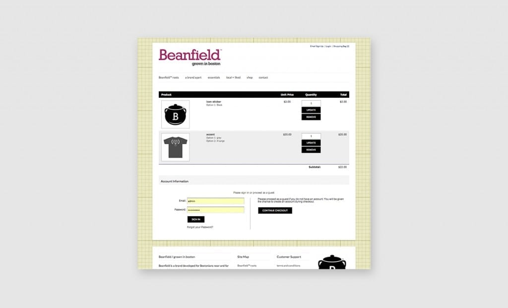 Beanfield Website 4