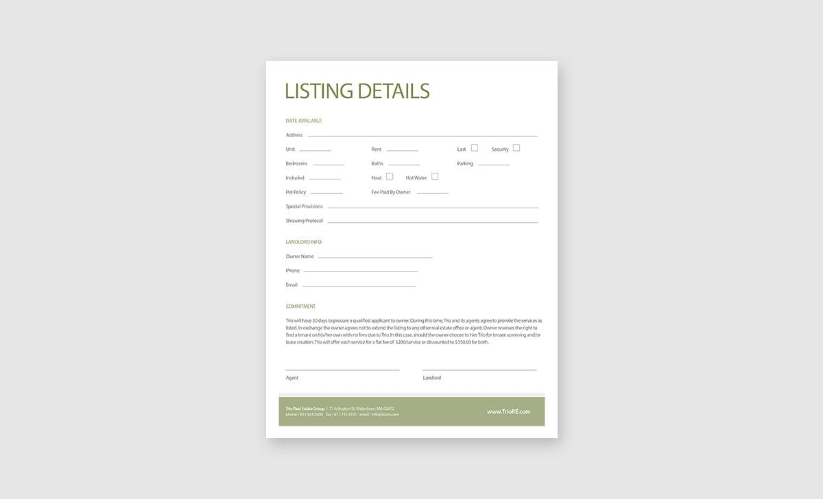 Trio Real Estate Listings Package 2